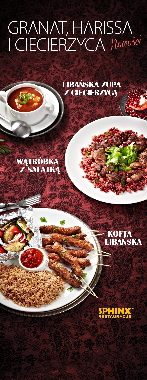 Kuchnia Libańska W Jesiennej Ofercie Restauracji Sphinx